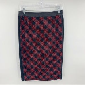 The Limited Pencil Skirt Red Buffalo Plaid Check 8